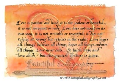 corinthians 13-1 from the Bible, a love poem for a Valentine's Day gift or any occasion