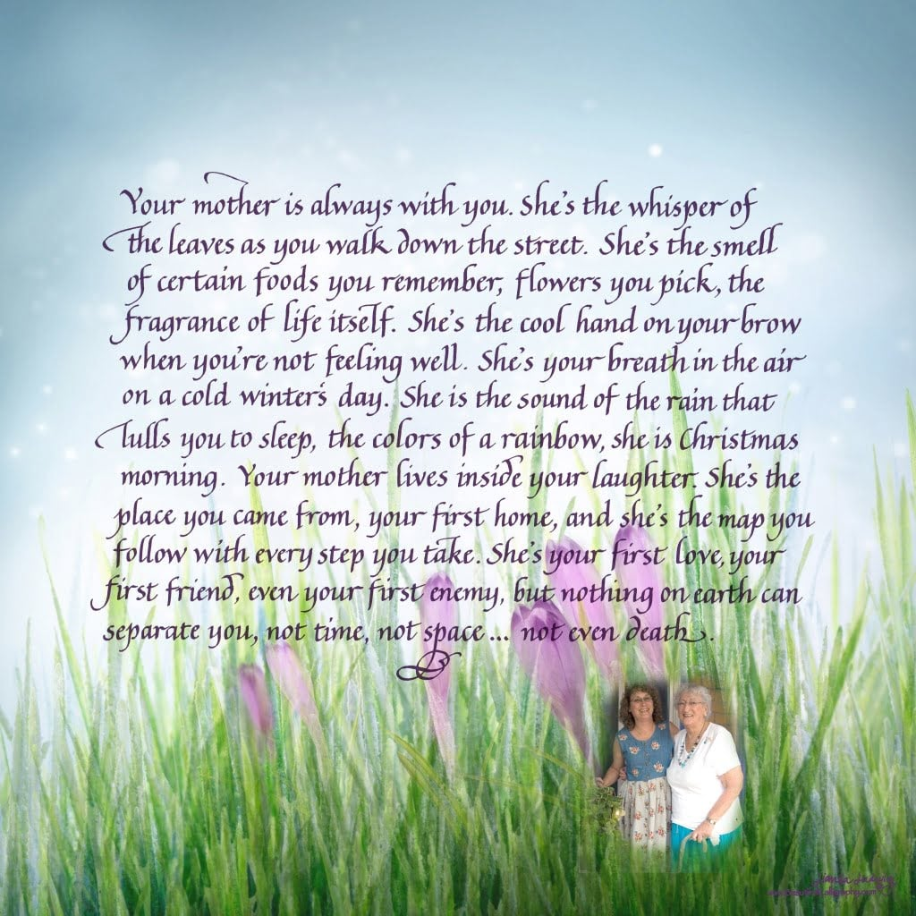 memorial- Love poem for Mother with personalization and photo