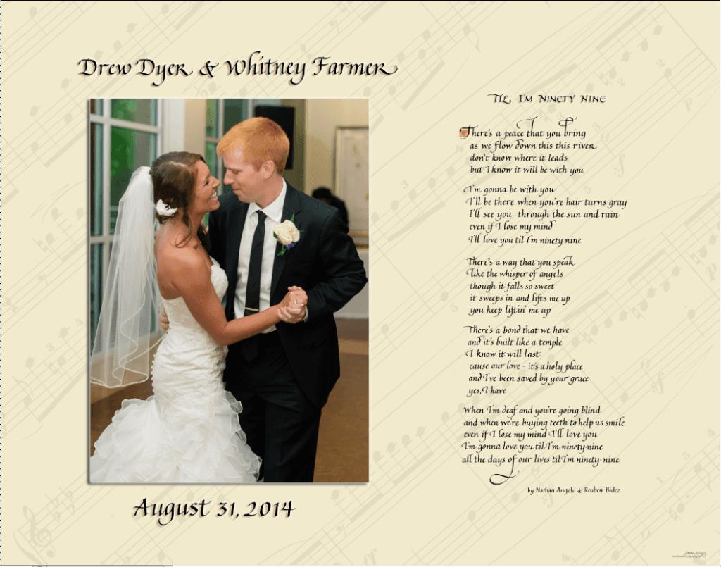first dance song lyrics