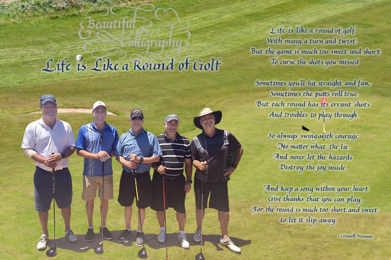 Father's Day golf poem with a foresome of friend golfers