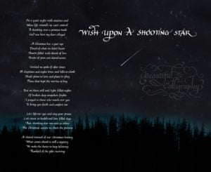 Christmas Poem- in calligraphy