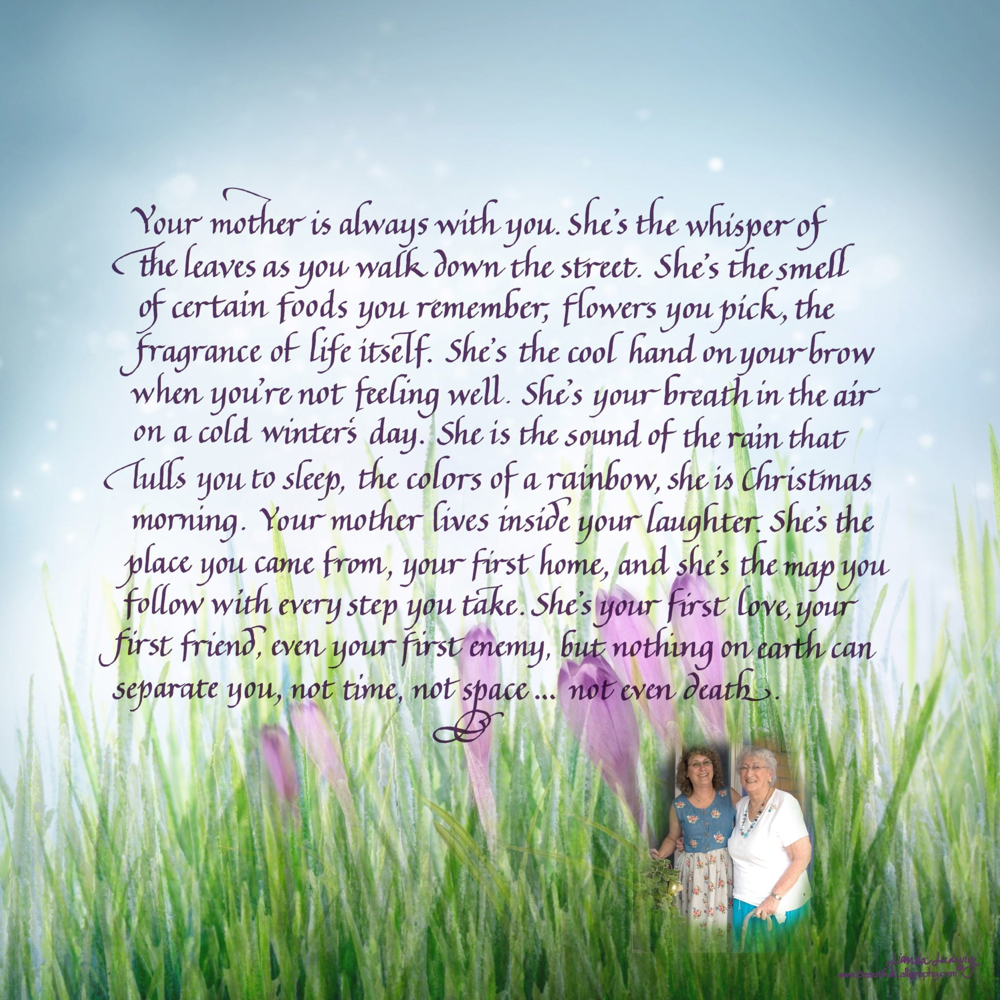 Mothers Day poem for memorial or gift