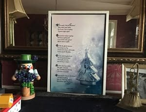 Father wrote a Christmas poem- makes a unique gift in calligraphy