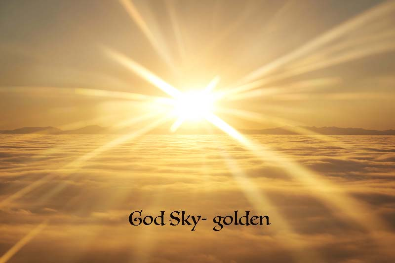 Perfect background for religious calligraphy called God Sky
