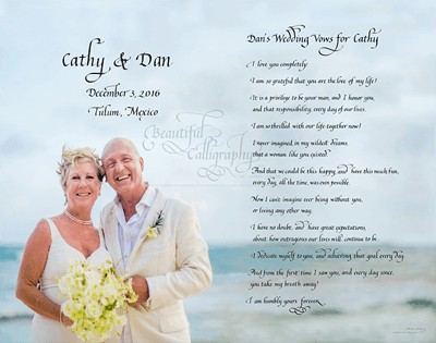 husband's vows to his new bride