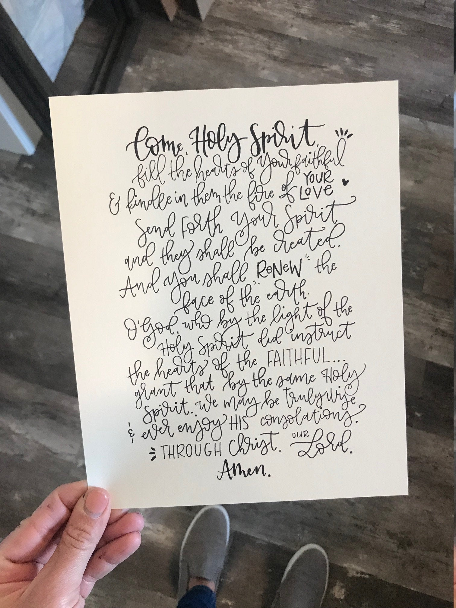 Modern Calligraphy should be legible. Can you read this? I can't