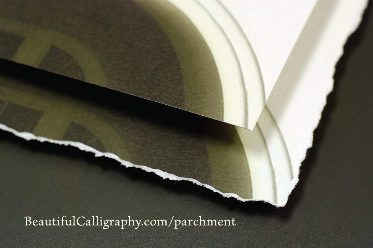 example of deckle edge finish on paper