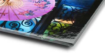 thin wrap glossy framed print