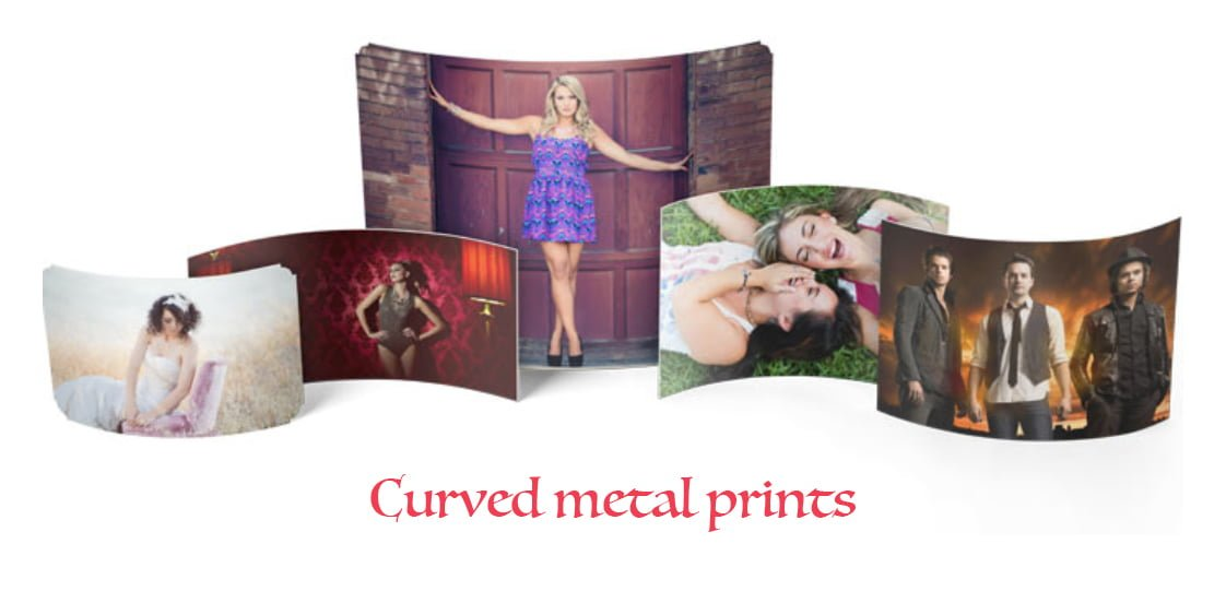curved metal calligraphy prints