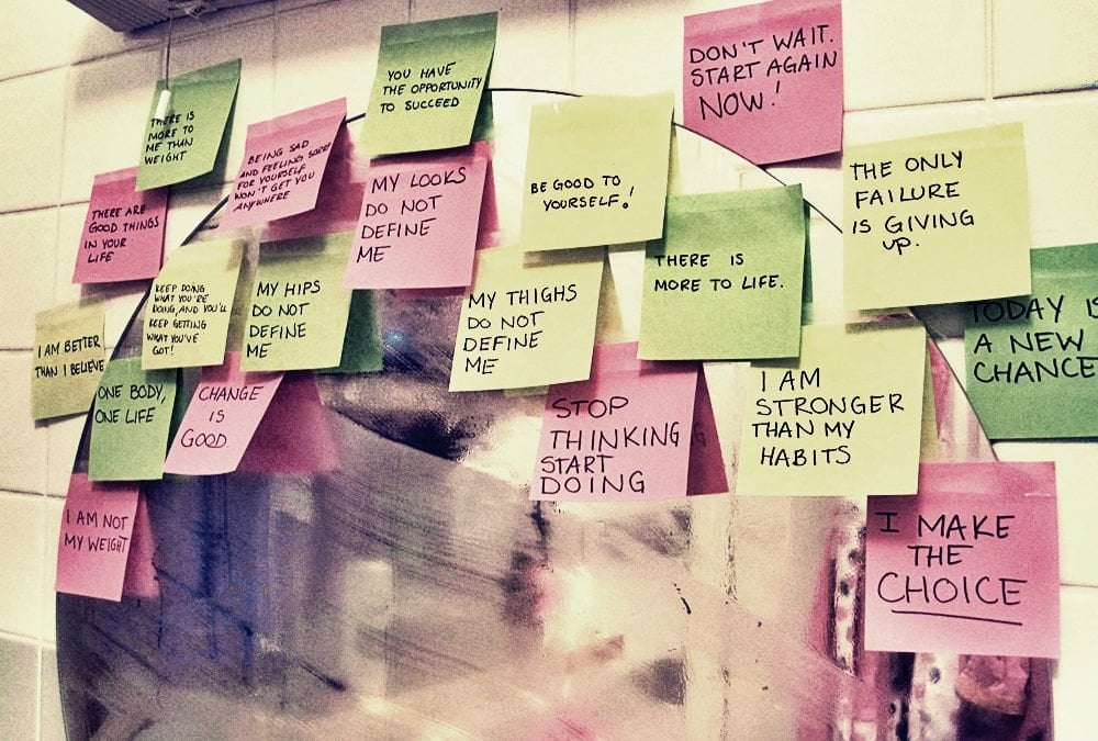 post-it notes with reminders