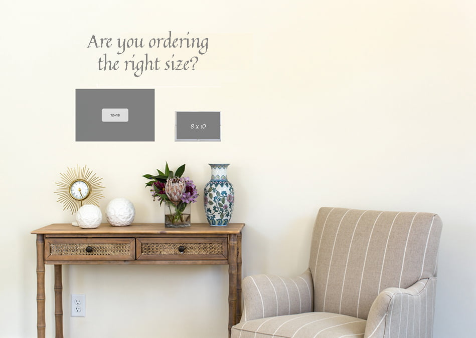 How to pick the right size calligraphy art print
