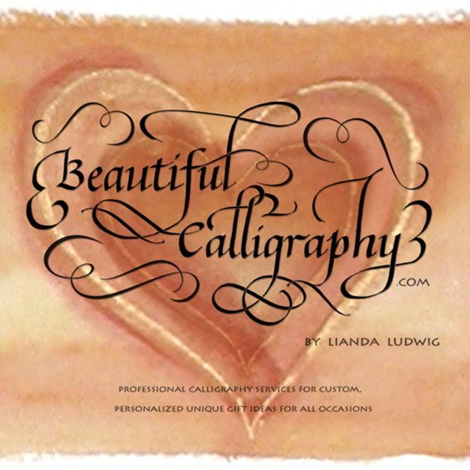 calligraphy flourished logo
