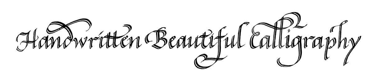 Handwritten Beautiful Calligraphy written in calligraphy
