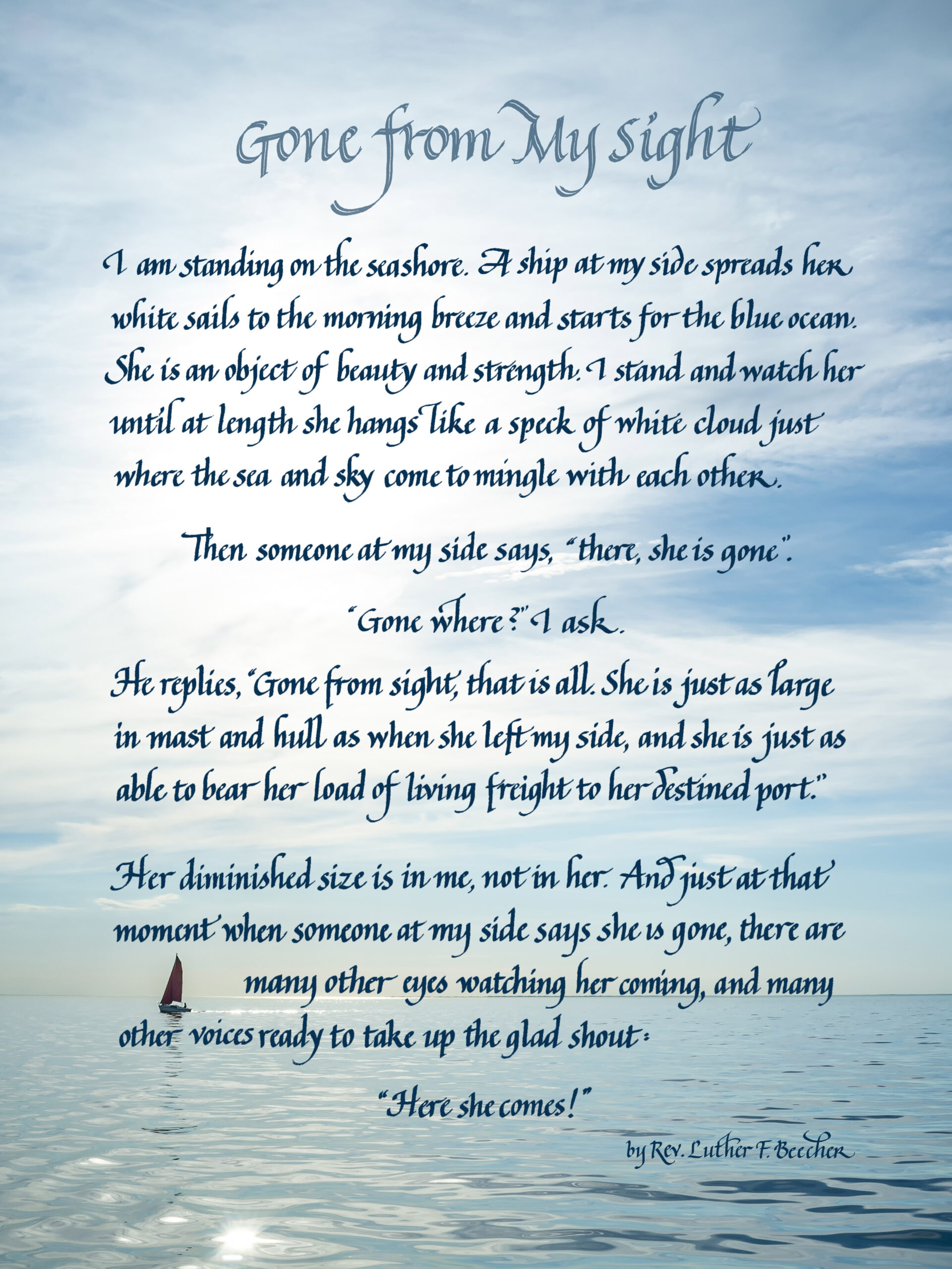 Memorial Poem-Gone from my Sight